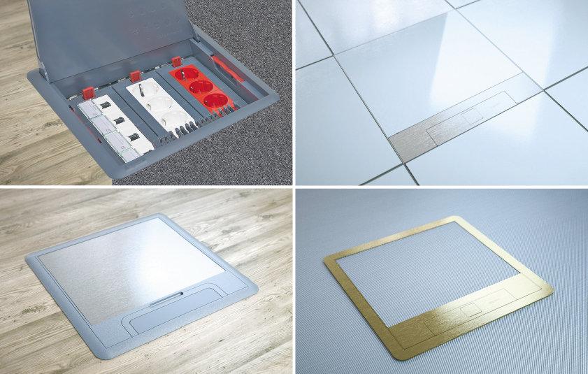 Alle Teppichrand- und Markierrand-Unterflursysteme sind modular aufgebaut. Sie passen sich optimal den Anforderungen jedes Projektes an und können mit den Projektanforderungen mithalten. (Bild: Legrand)