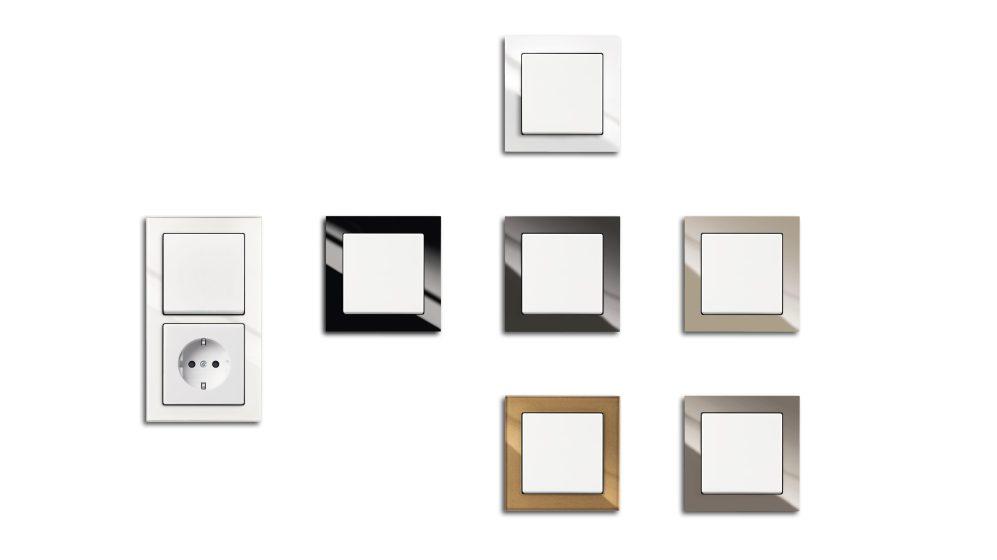 Busch-axcent vereint puristische Optik und hochwertige Materialien mit kontrastreichen Farben. (Bild: ABB AG)