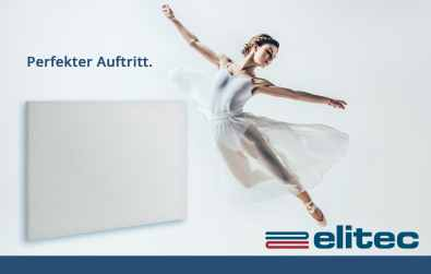 elitec Infrarotheizung 2.0 – modernes & effizientes Heizen. (Bild: elitec)