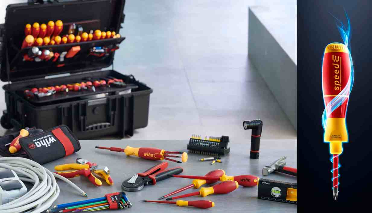 Wiha empfängt die Messebesucher der Power-Days 2019 mit speedE® und zahlreichen Handwerkzeug-Innovationen für Elektro-Profis. (Bild: Wiha Werkzeuge GmbH)