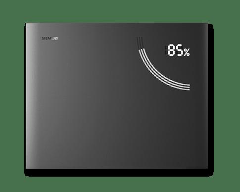 Der Lithium-Ionen-Speicher Junelight Smart Battery von Siemens vereint intelligentes und sicheres Energiemanagement mit modernem Design. (Bild: Suntastic.Solar)