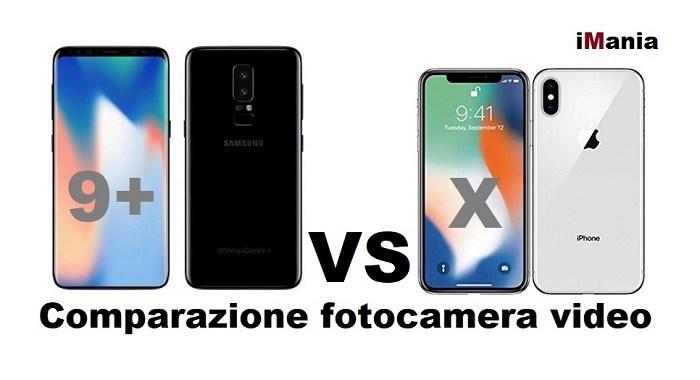 galaxy s9 plus iPhone X confronoto fotocamera e video grande comparazione iMania