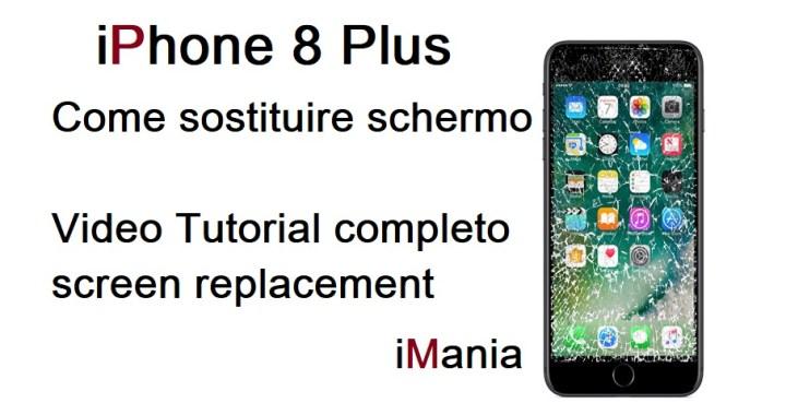 iphone 8 plus sostituzione vetro tocu h lcd imania varese