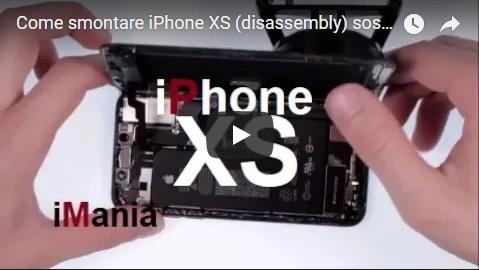 iphone xs sostituzione vetro touch lcd schermo batteria smontaggio completo