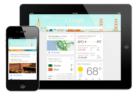 Google Now for iOS。圖片來源:Unofficial news and tips about Google