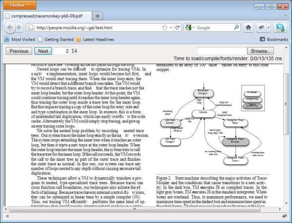 JavaScript renders PDF
