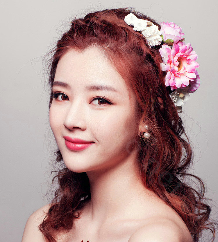 Buy Wholesale Sweet Garland Artificial Flower Hair Band