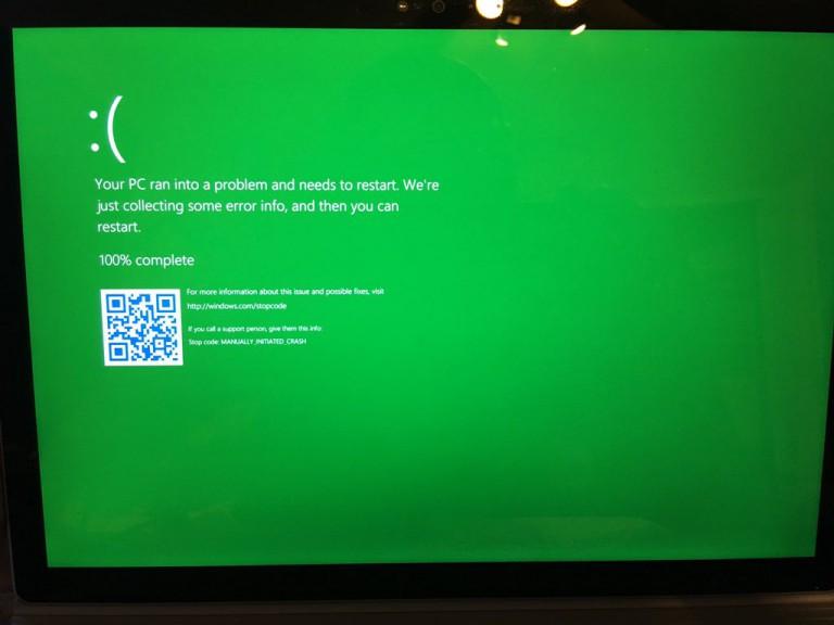 GSOD (Green Screen Of Death )