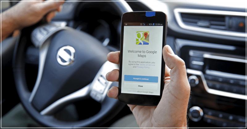 Google Maps - função de estacionamento