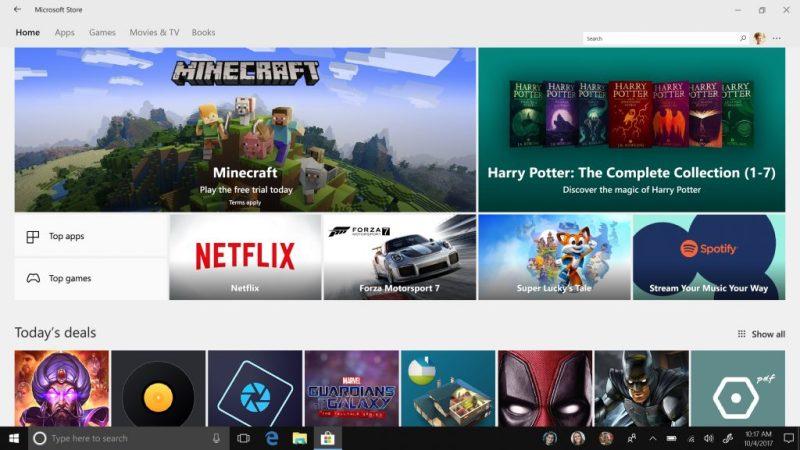 Loja Microsoft (Fall Creators Update)