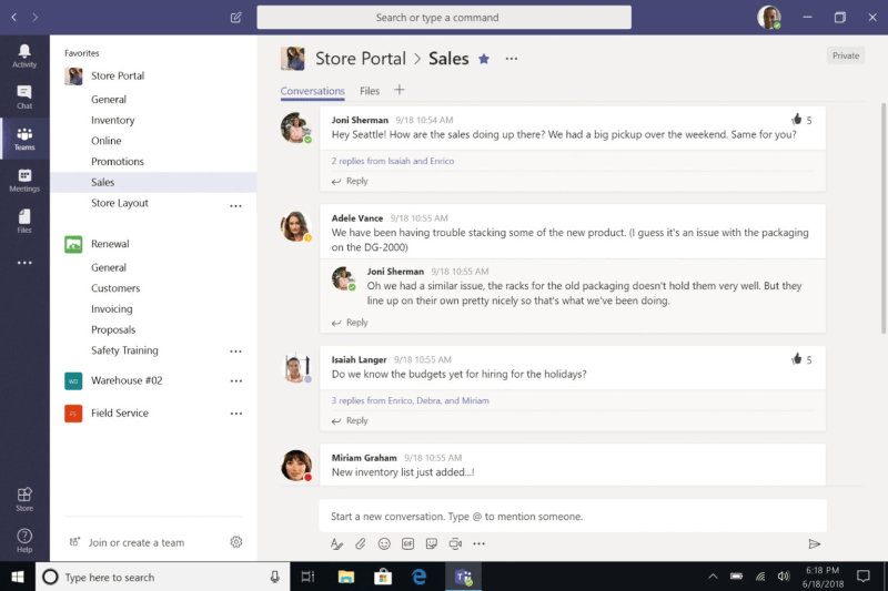 Video chamadas - Microsoft Teams