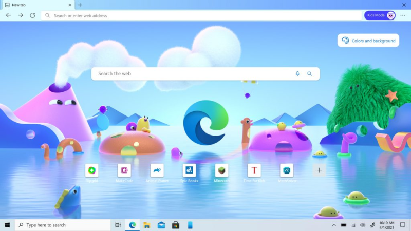 Microsoft apresenta Kids Mode do Edge