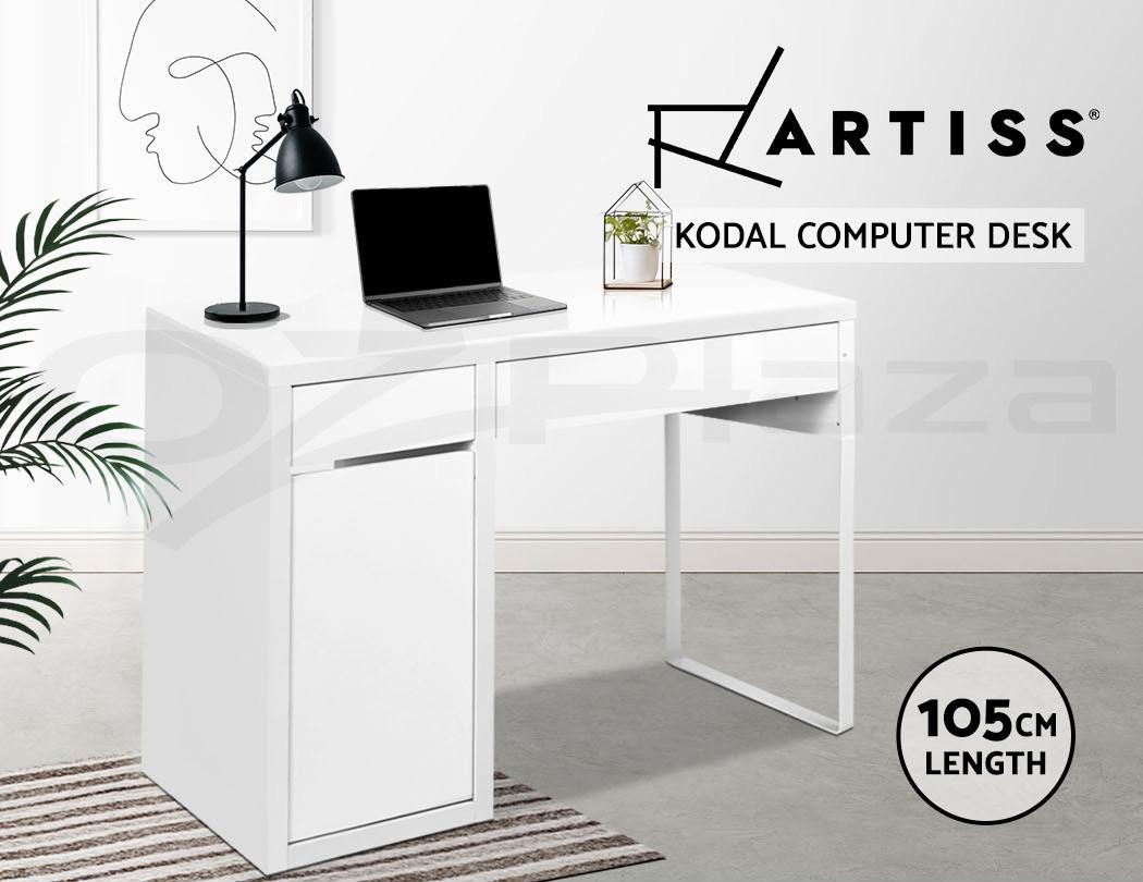 Artiss Office Computer Desk Study Table Home Metal Storage Cabinet White Drawer Ebay