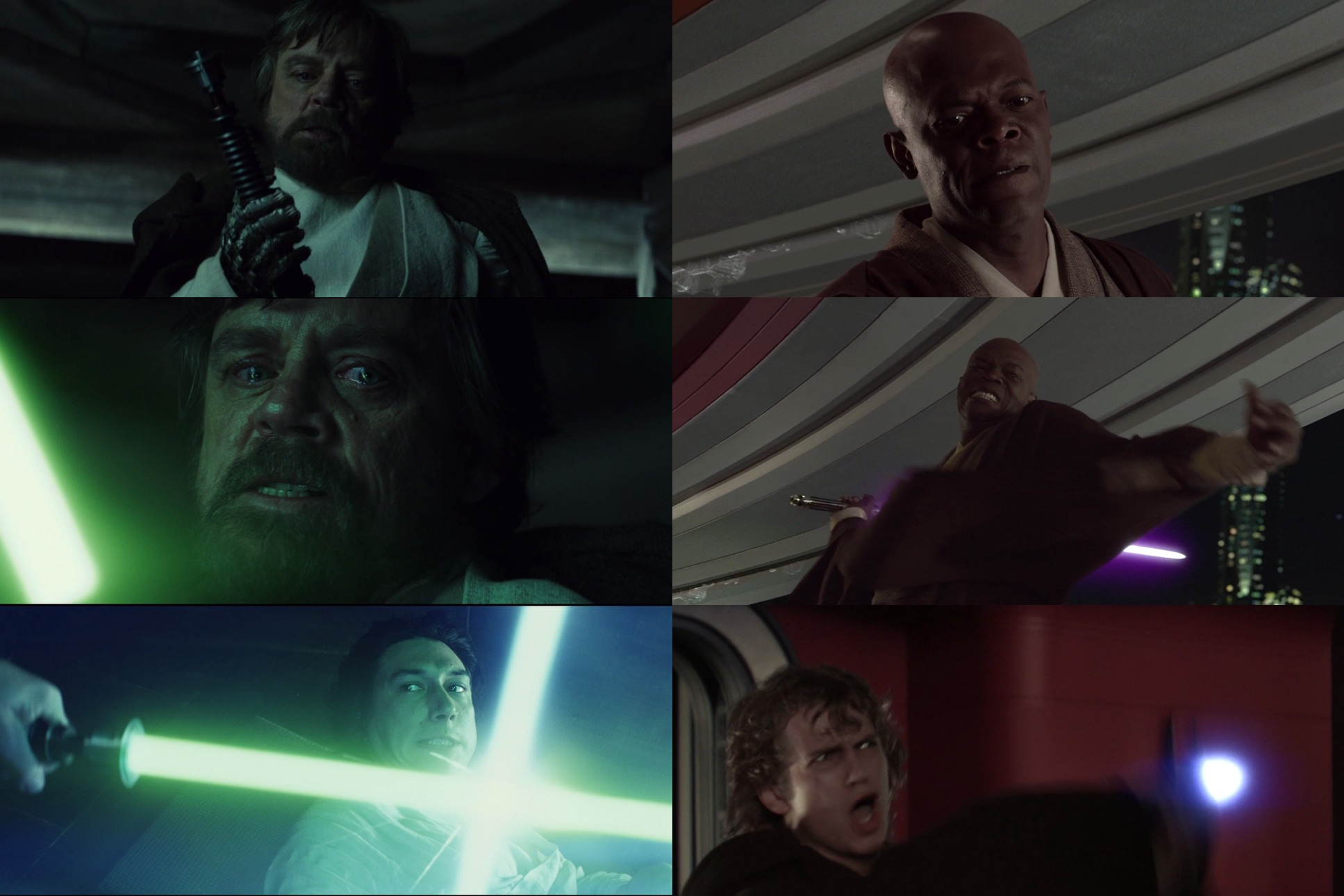Luke's failure in TLJ clearly parallels his moment of weakness in ROTJ, but it also echoes Mace's moral failure in ROTS-...