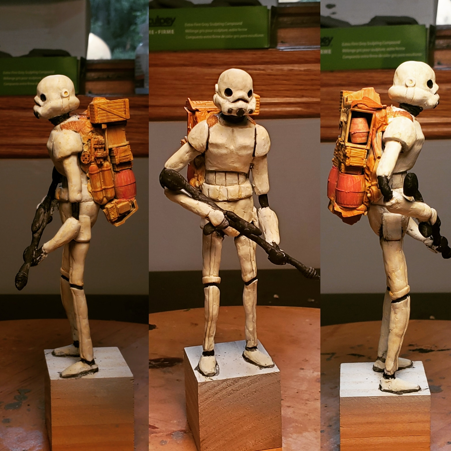 Junktrooper, made by me with polymer clay.
