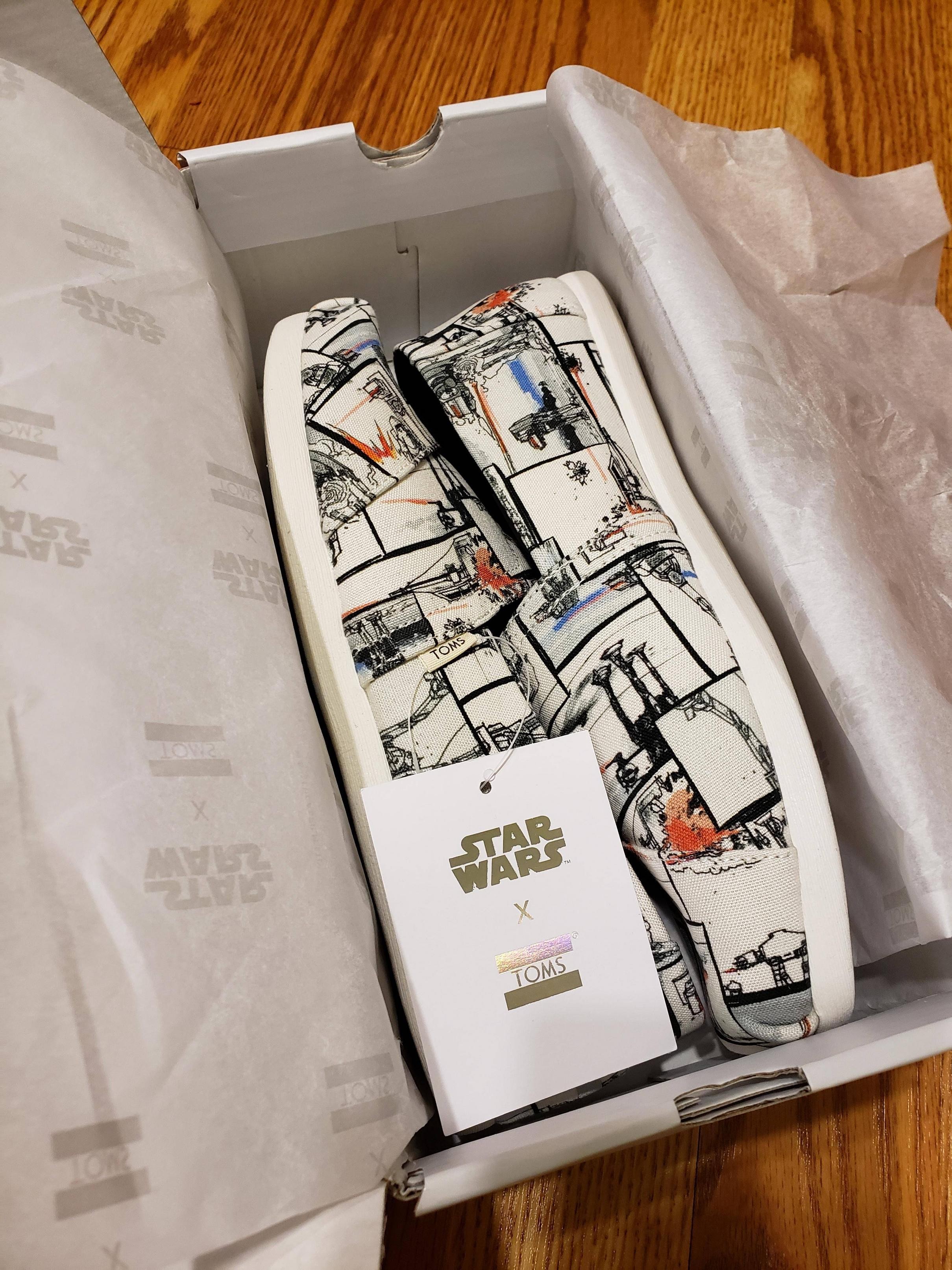Toms... just got my Toms Star Wars. So happy!