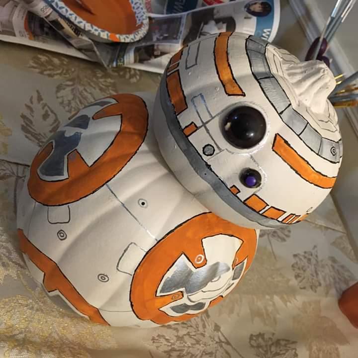 Dad was proud of his BB-8 pumpkin