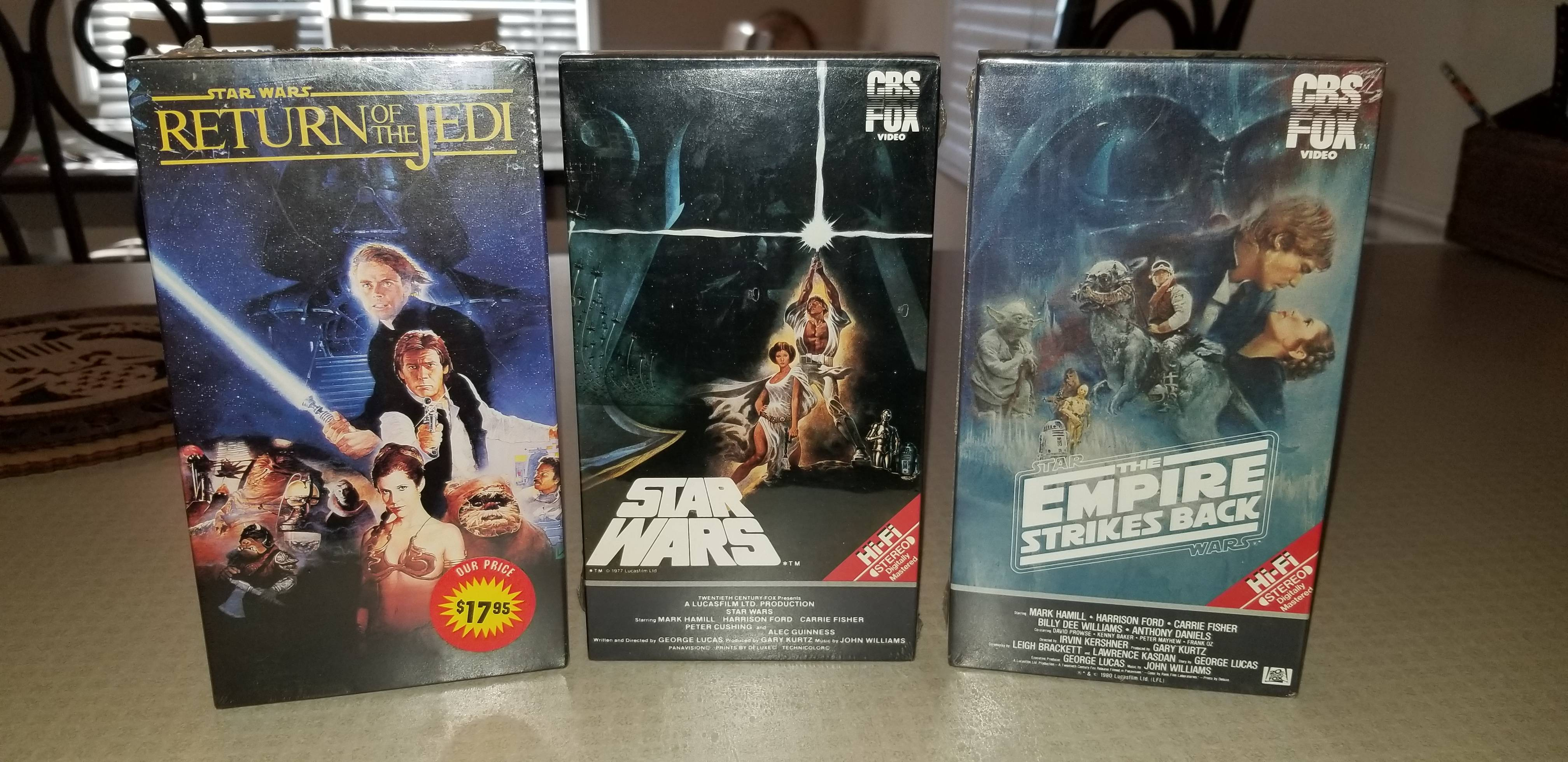 Old Star Wars VHS\'s. Thought you all would like to see them.