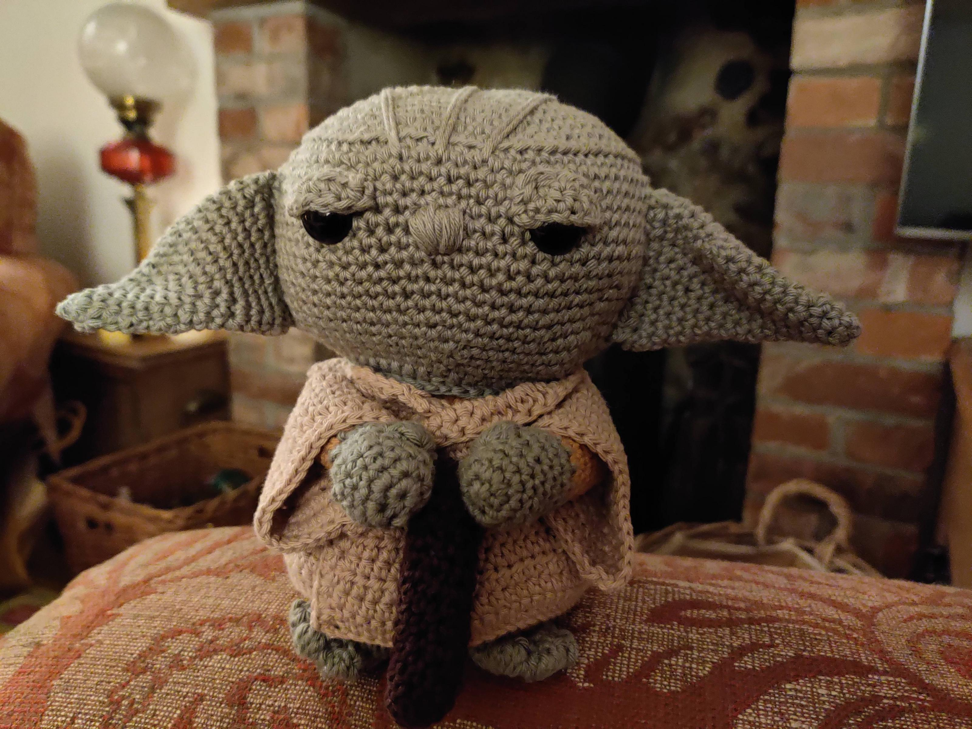 My wife crocheted me Yoda for Christmas, it\'s amazing and I love it!