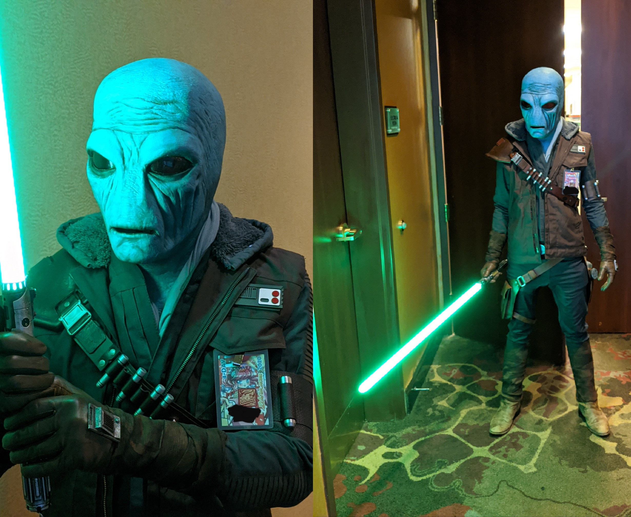 I cosplayed a Duros Jedi at Ichibancon 2020 in NC this weekend.