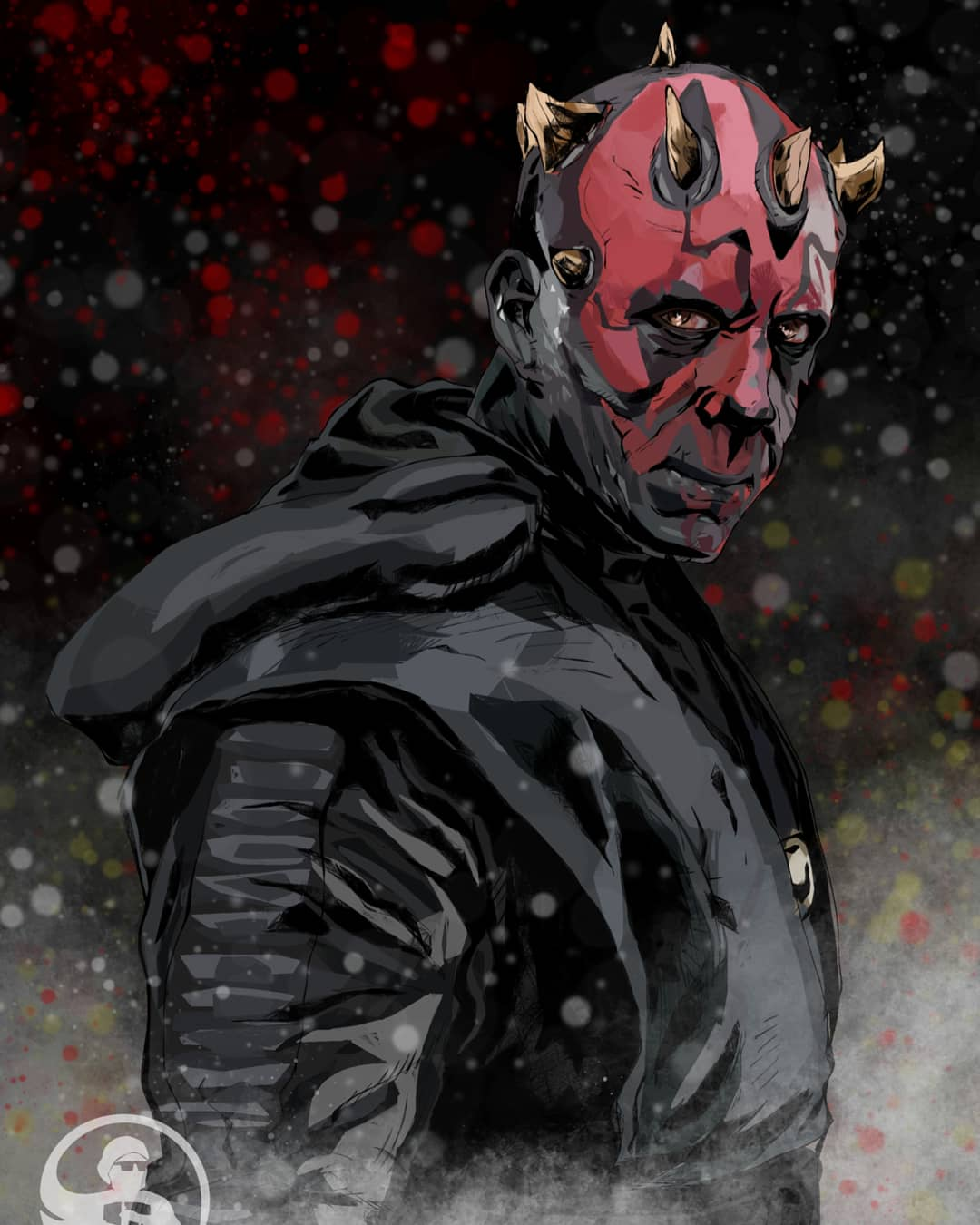 As promised, my finished Darth Maul Illustration based on Ray Park\'s Maul from Solo!