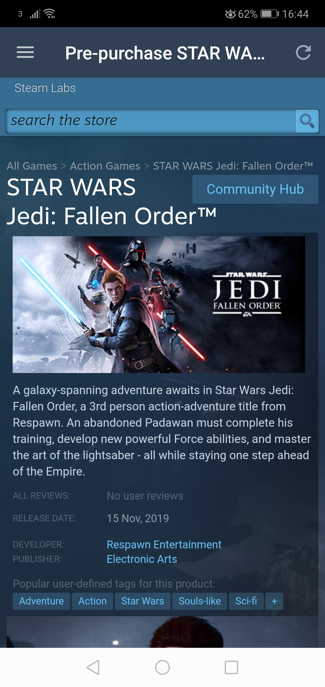 FALLEN ORDER is on Steam! Yes!