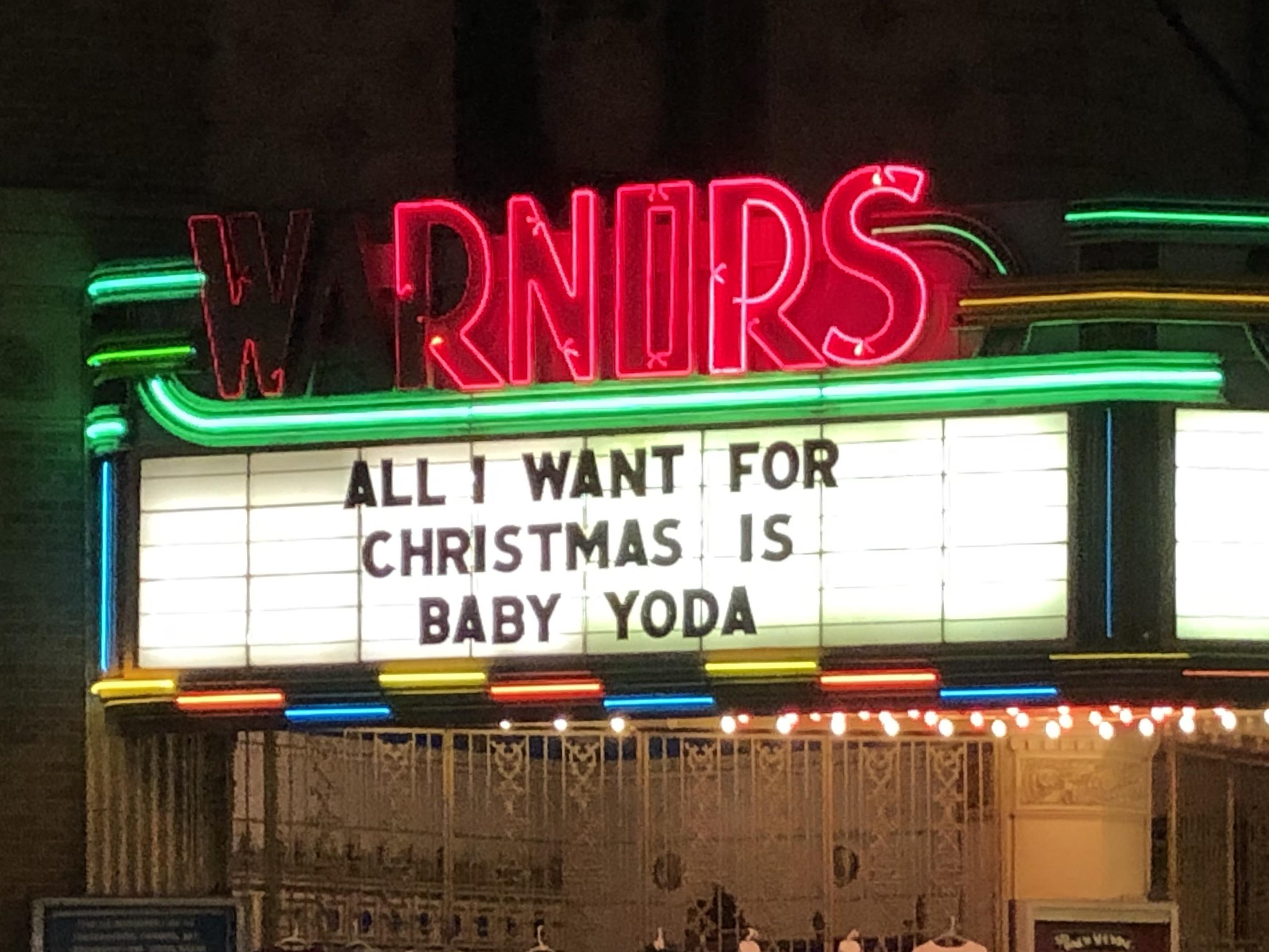 Even the local theater is on board