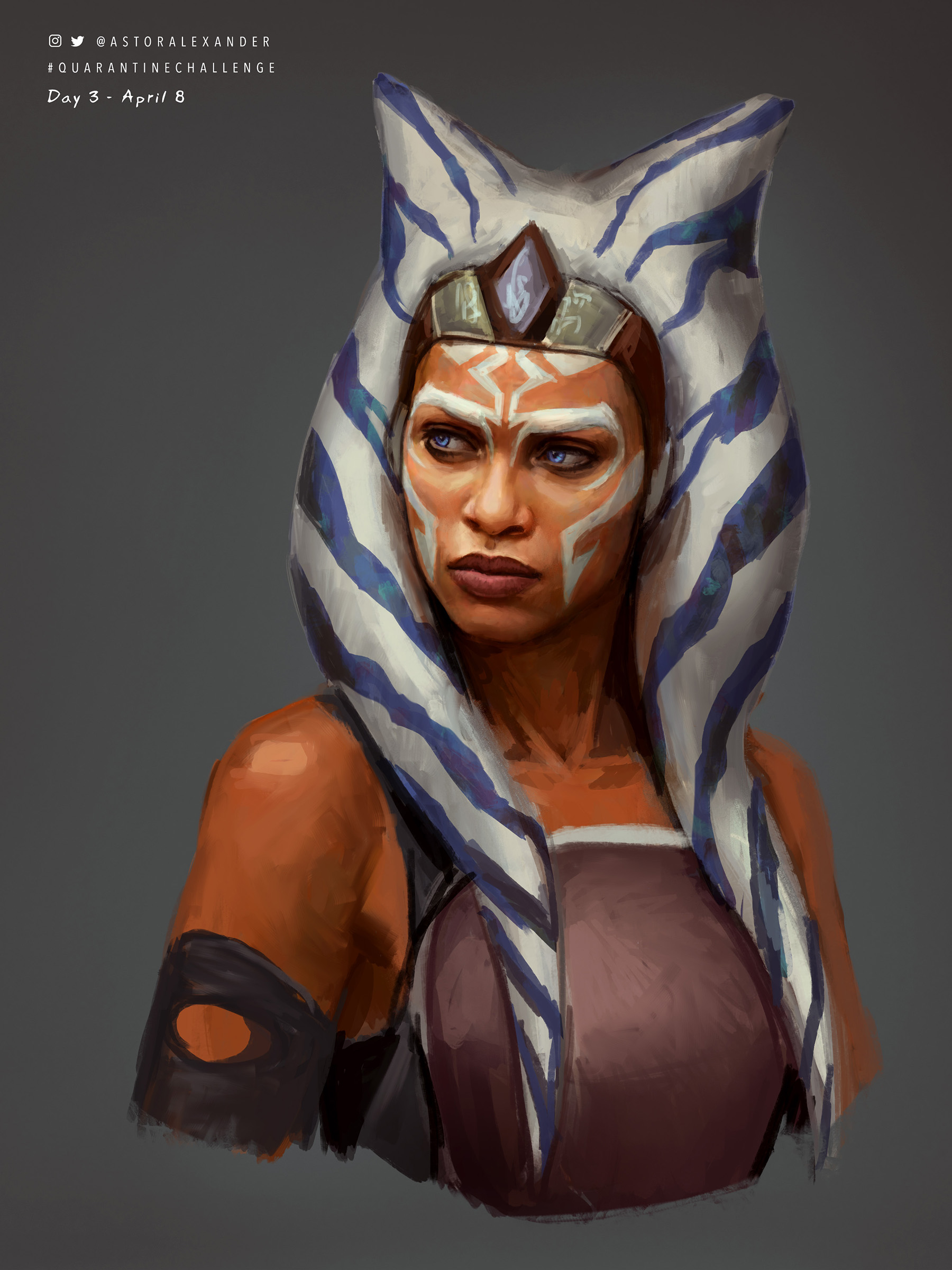 Rosario Dawson as Ahsoka Tano by Astor Alexander