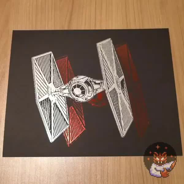 Tie Fighter - Red foil peel