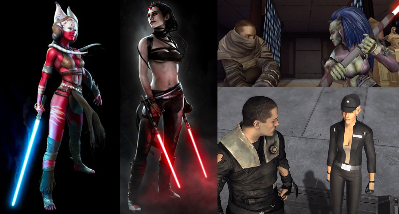 The female character designs in The Force Unleashed had a certain, uh... style.