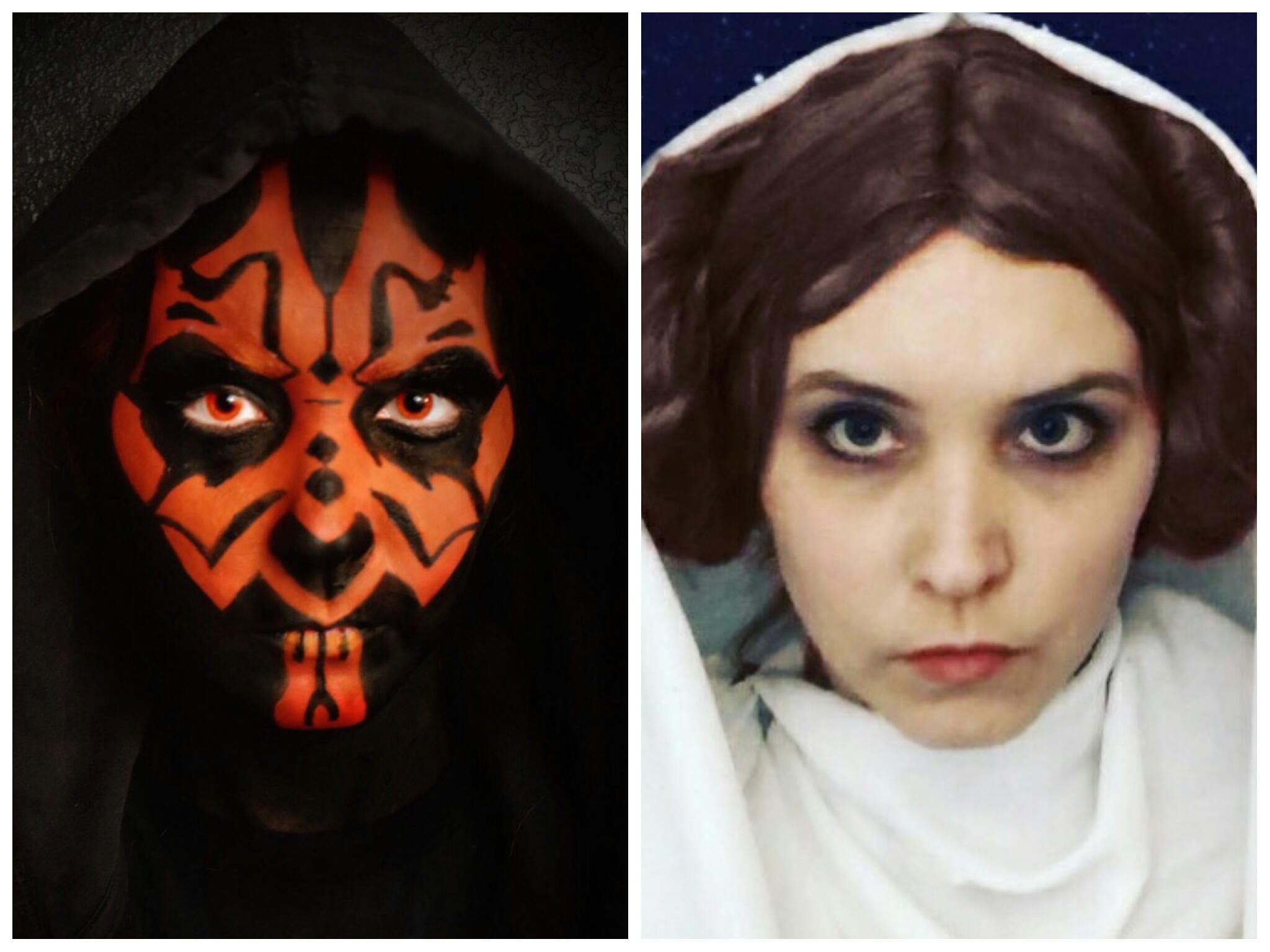 My wife as Darth Maul and Princess Leia.