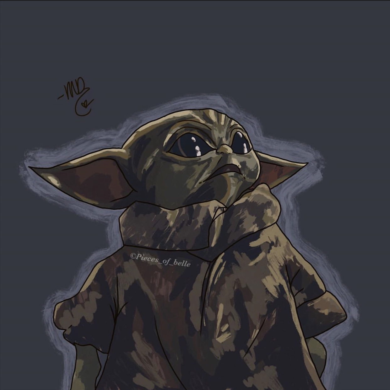 My 14 year old daughter drew baby Yoda. Thought you might like it.