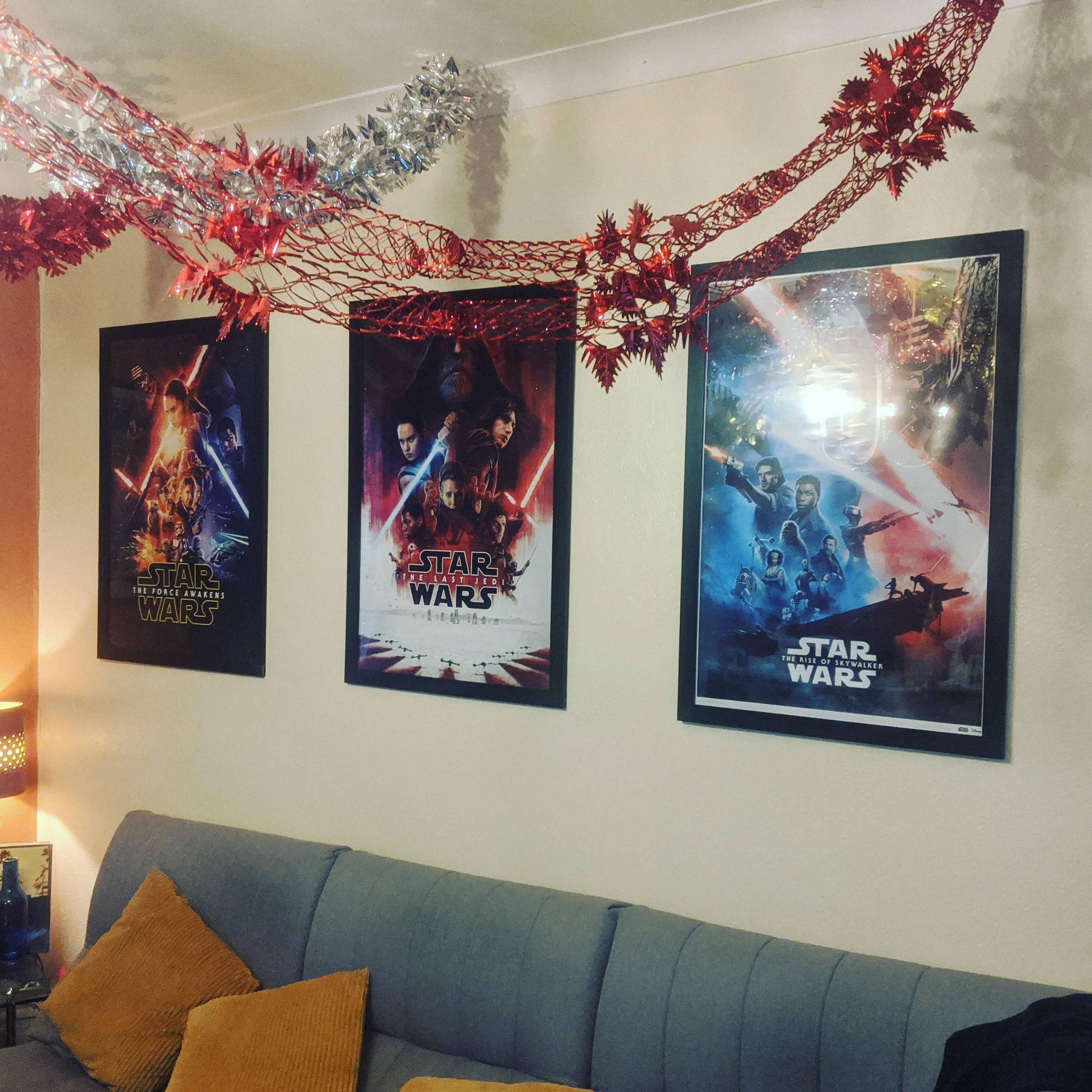 I bought TFA poster when it was released, then TLJ, & now I\'ve completed the Trilogy.