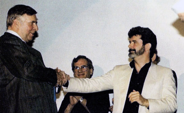 George Lucas and Gene Roddenberry