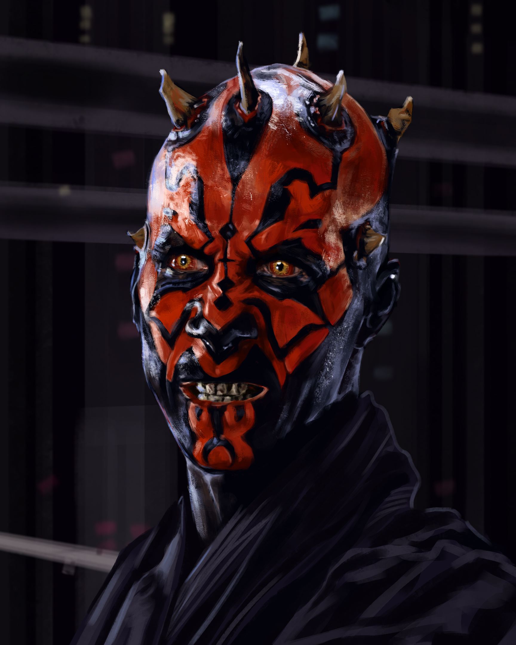 I painted Darth Maul