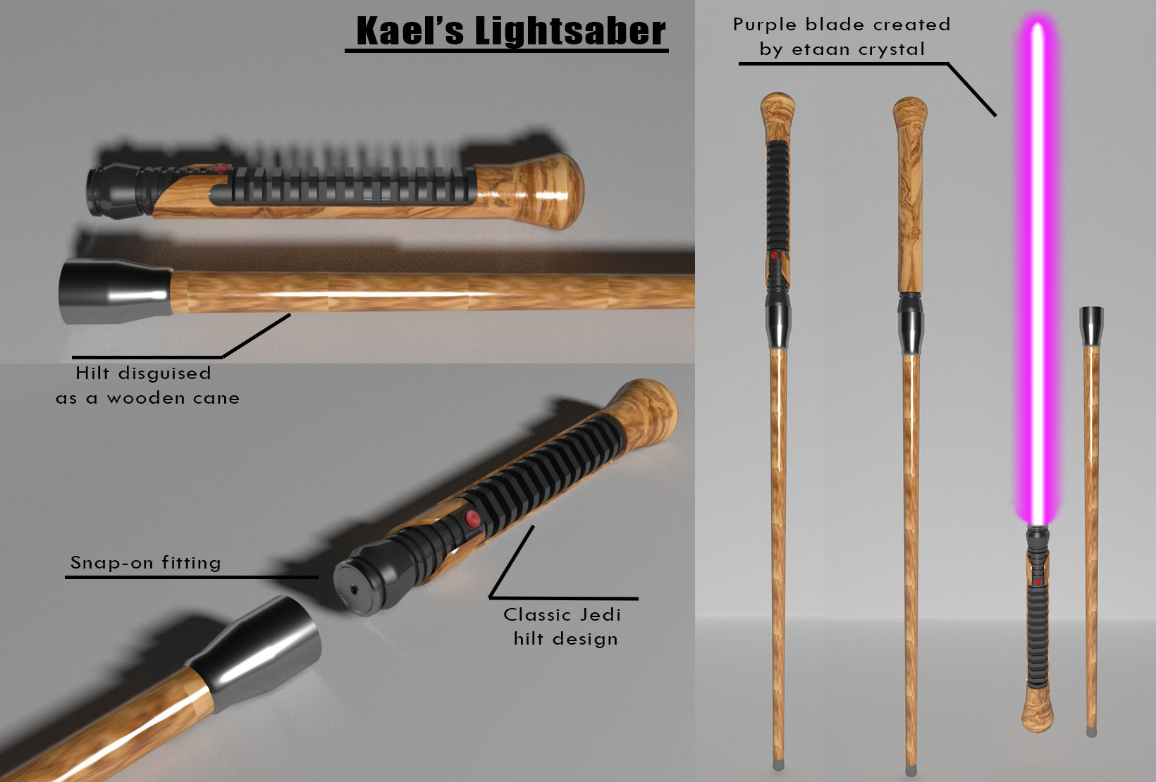 Lightsaber model I made some time ago for players in our old FFG game