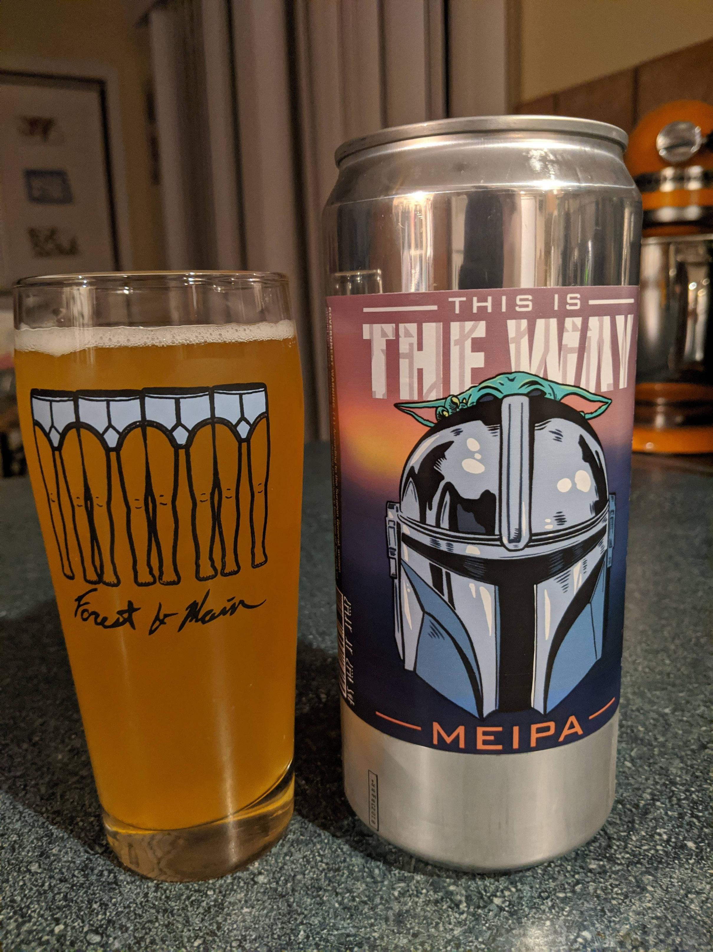 Local brewery made a Mandalorian Beer. A Mos Eisley IPA
