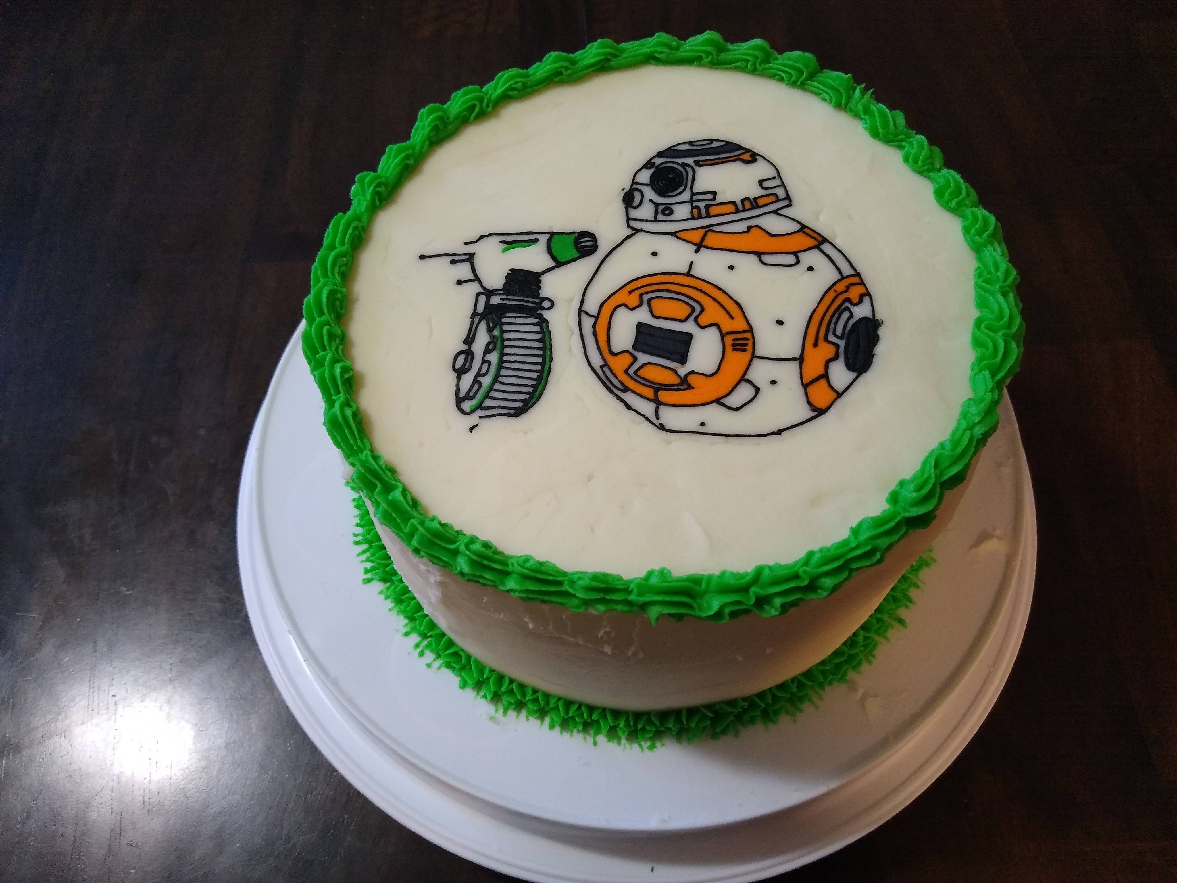 I made this cake for May the 4th this year. I think I did pretty good if I do say so myself.