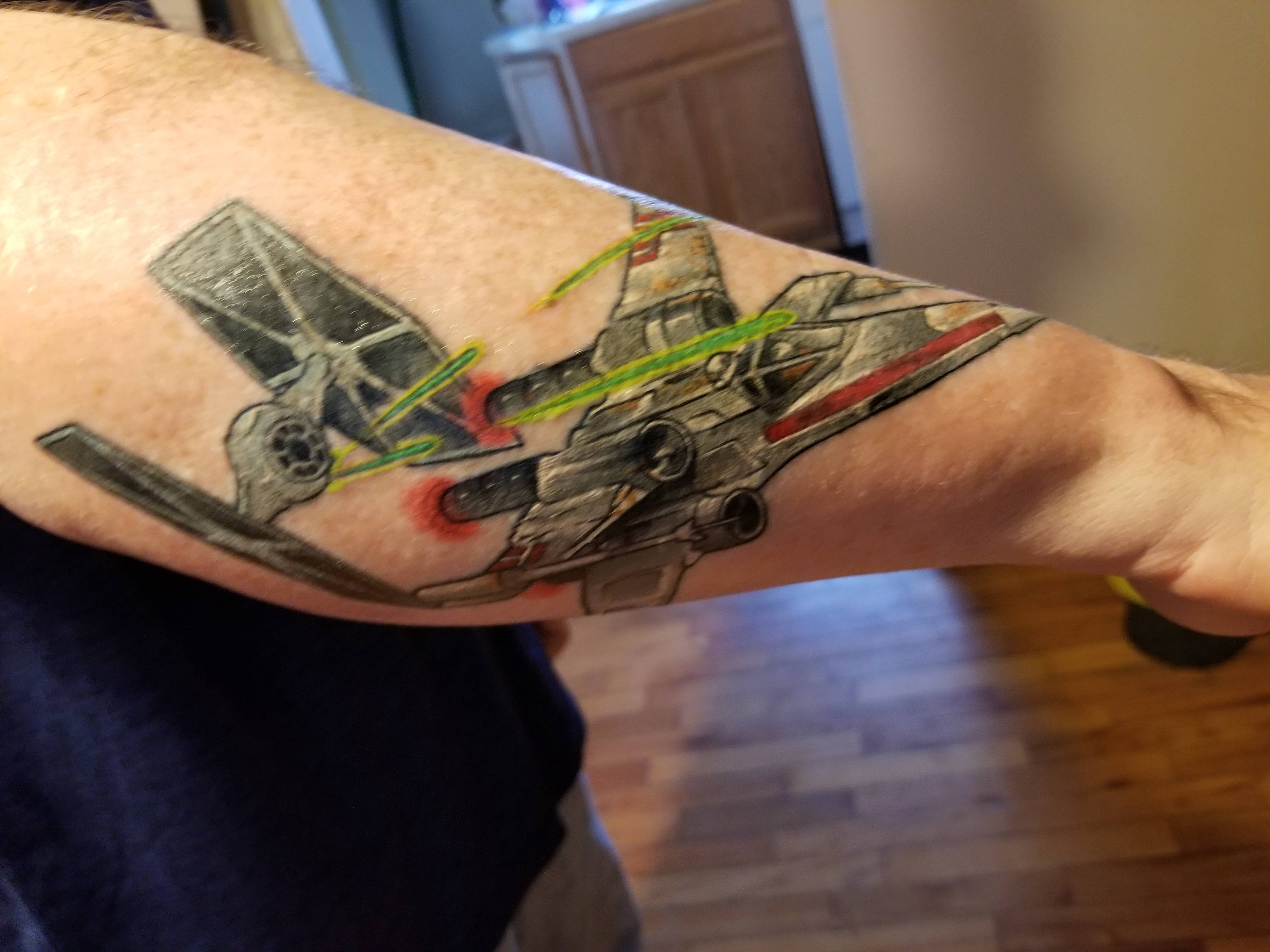 New tattoo. Will eventually be a full sleeve dedicated to Star Wars.
