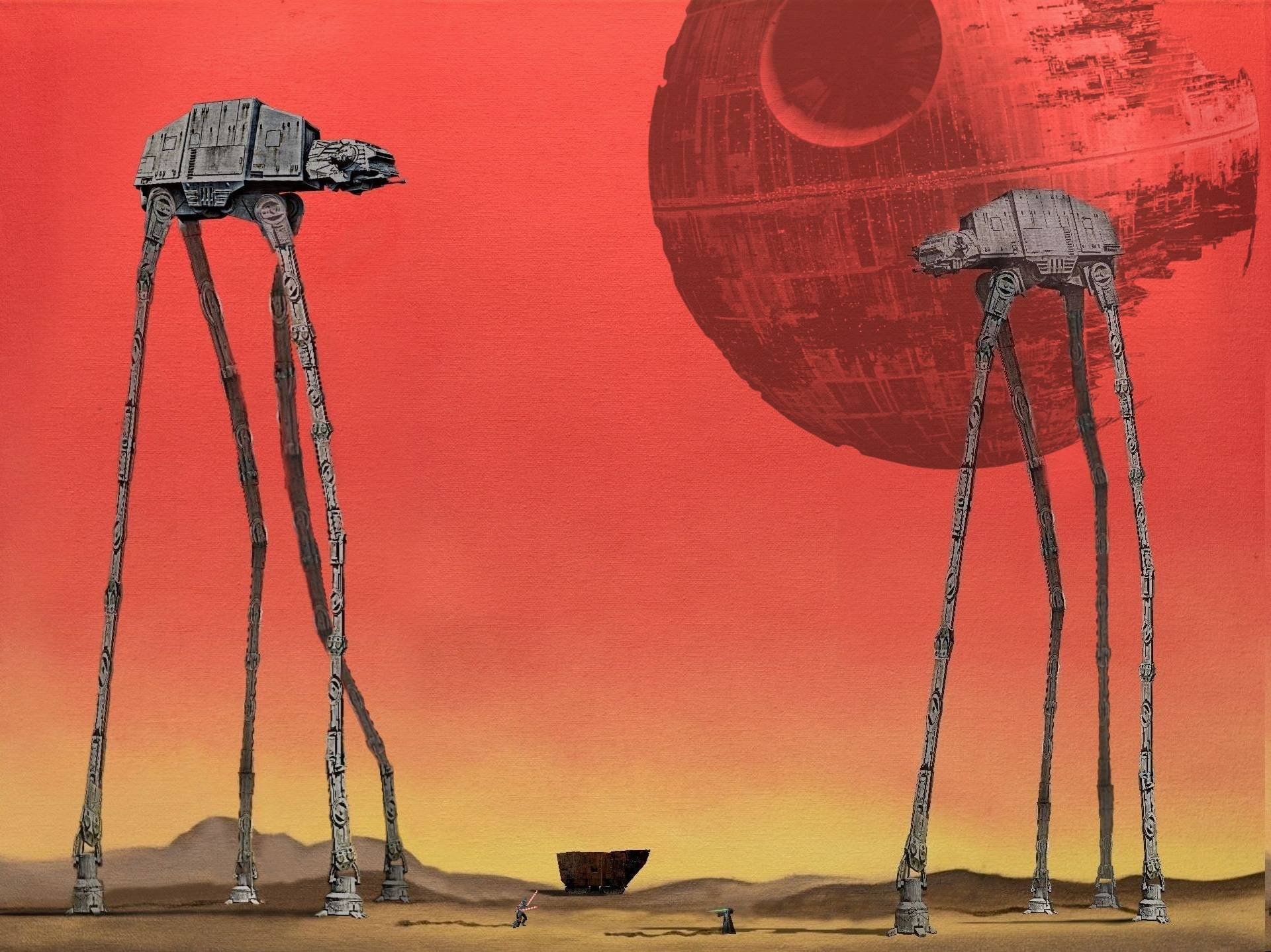 The AT-ATs, inspired by Salvador Dali\'s \'Elephants\'