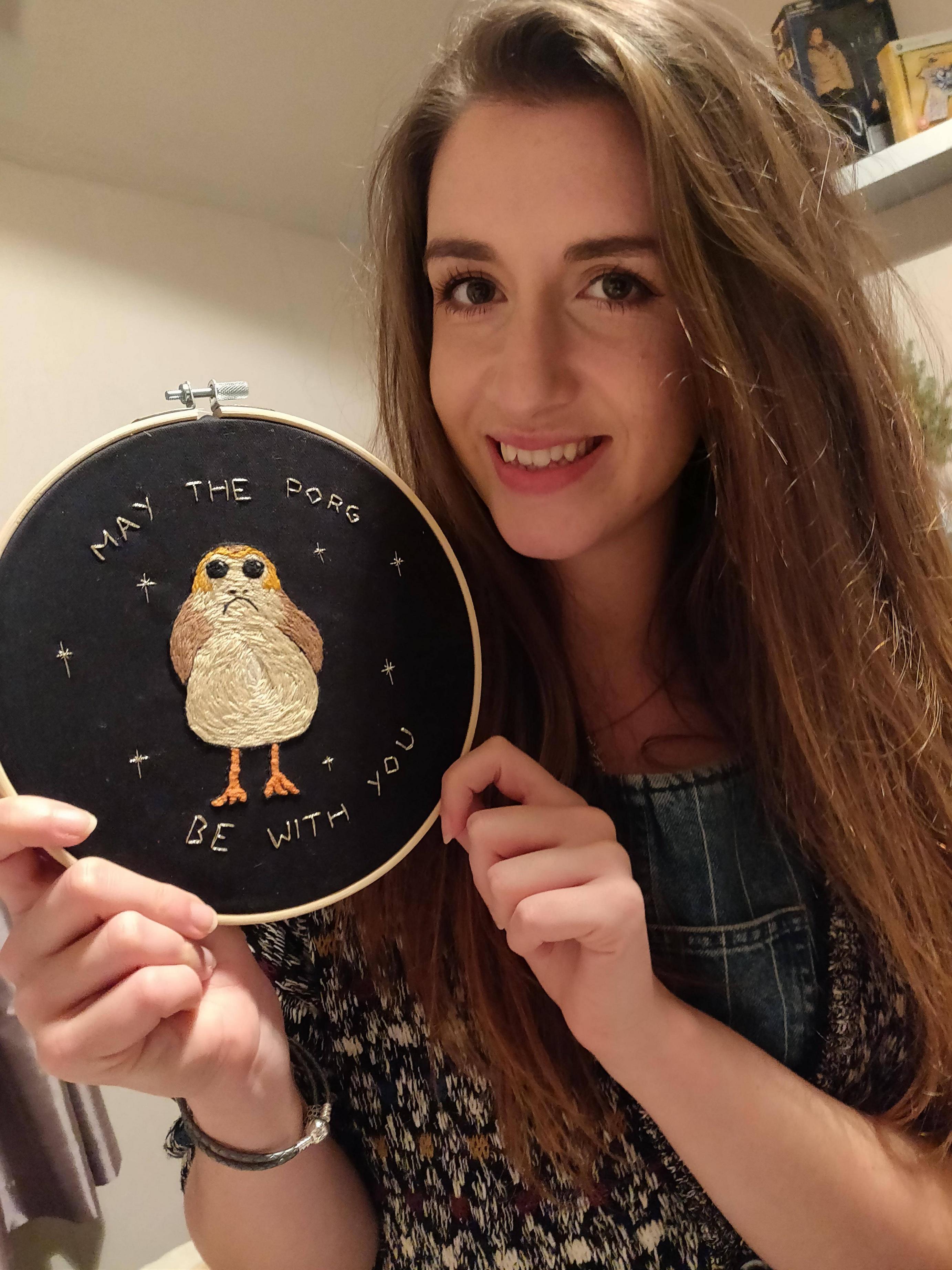 She finally made me an embroidery hoop!