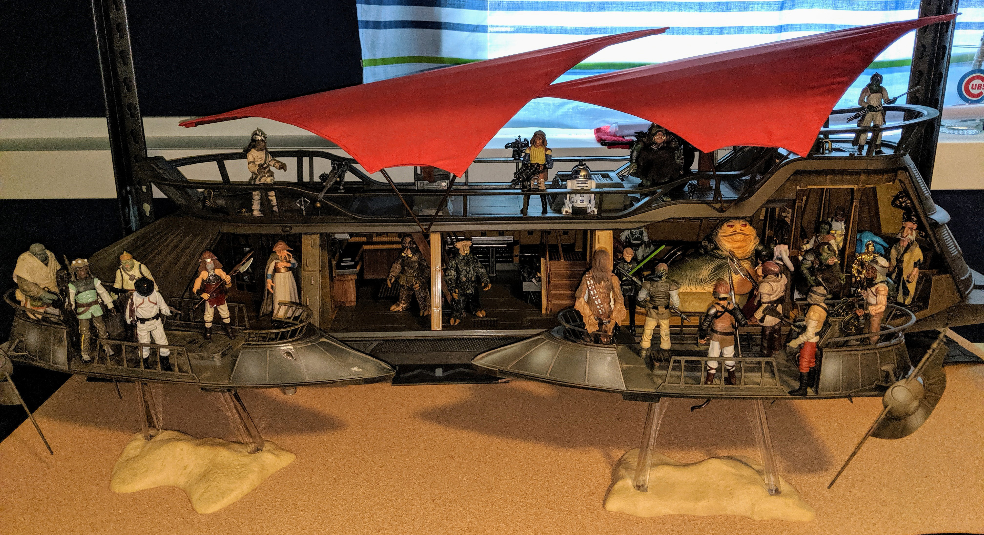 The Battle of the Great Pit of Carkoon - I\'ve waited many years to be able to put this display together!
