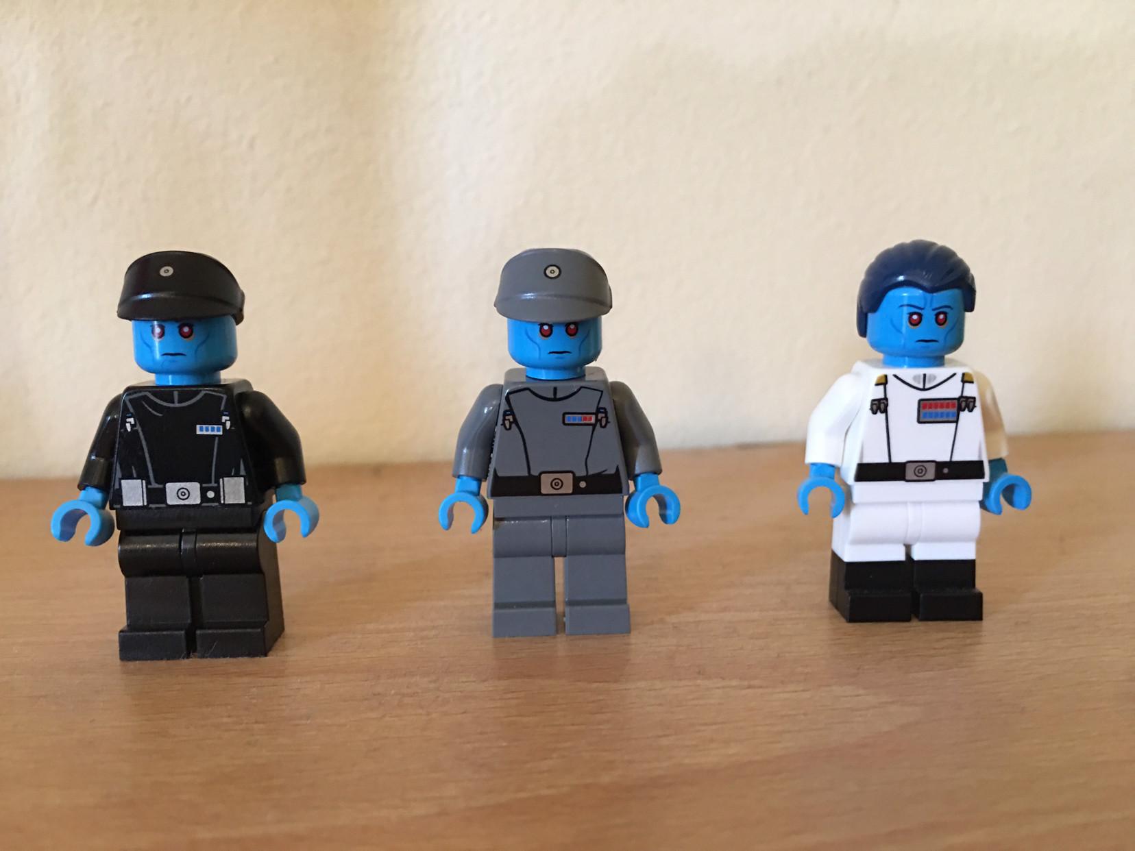 [Lego] Lieutenant Thrawn, Commodore Thrawn, Grand Admiral Thrawn