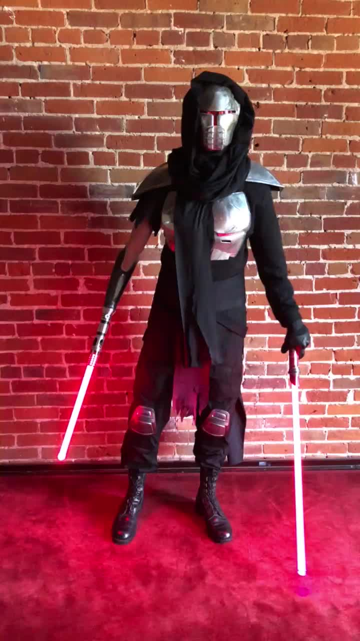 My bionic arm lightsaber attachment in action