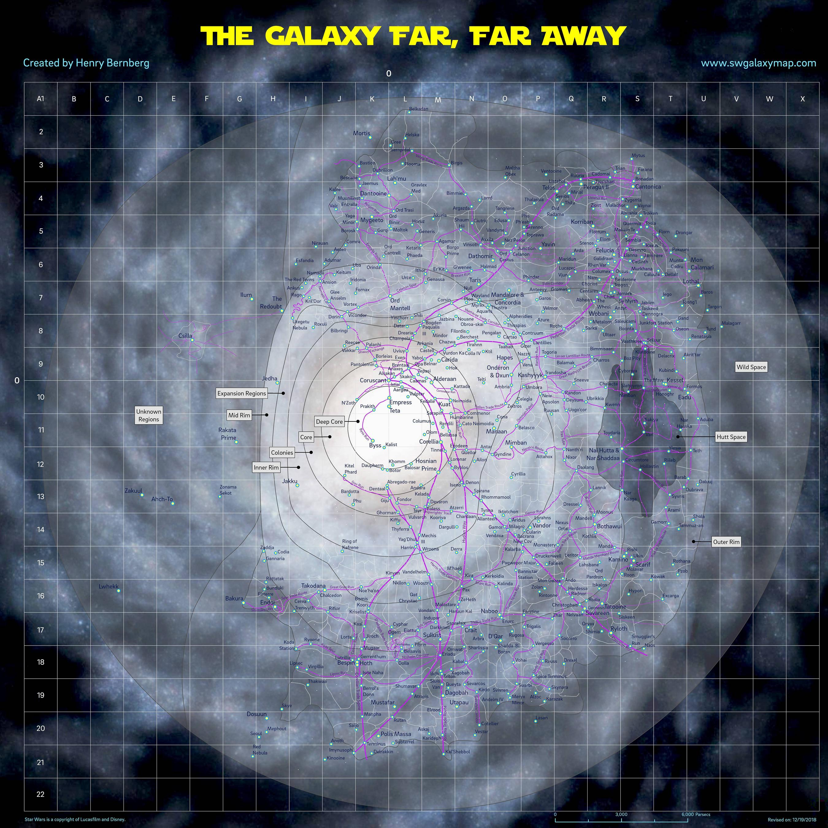 I made a map of the Galaxy Far, Far Away. Let me know what you think.