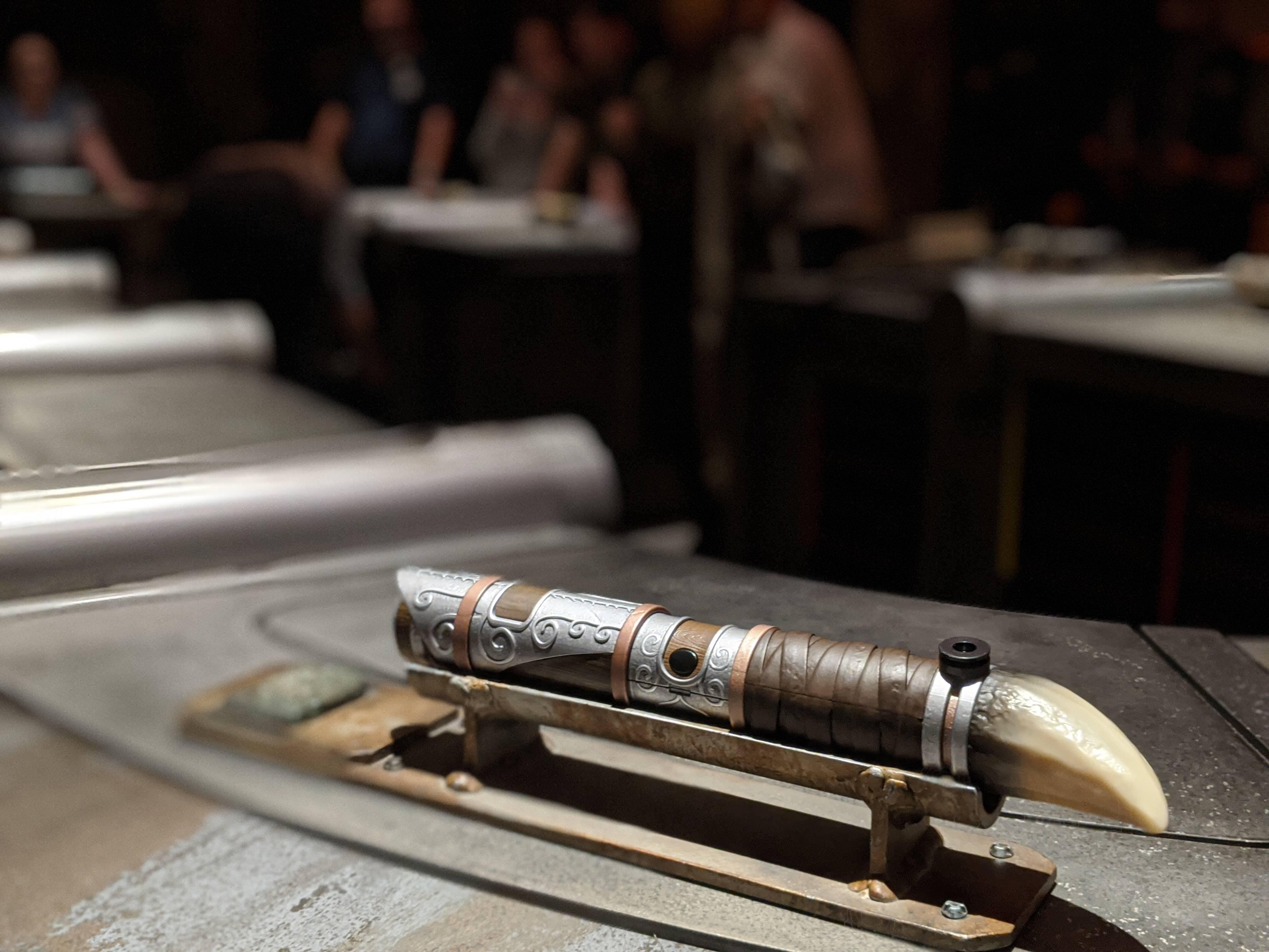 Lightsaber built at Savi\'s Workshop in Disney World