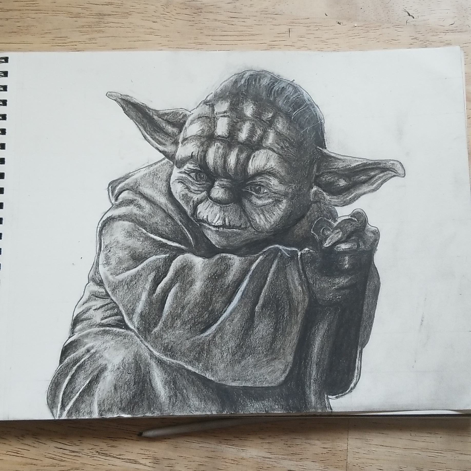 Its been a while since I\'ve done any artwork. Figured I\'d test my hand at Yoda. As they say,
