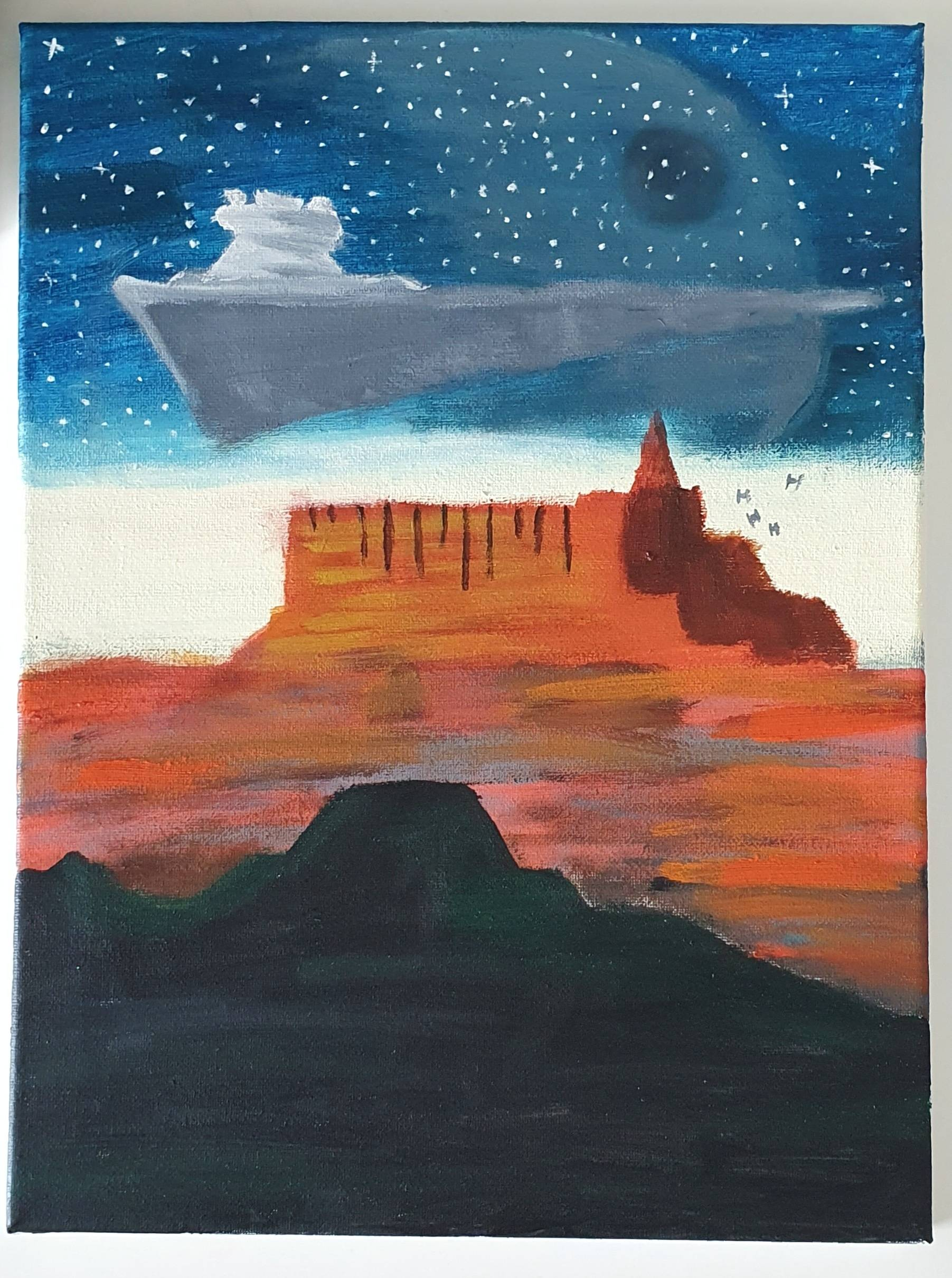 Jedha - painted by my 12 year old daughter