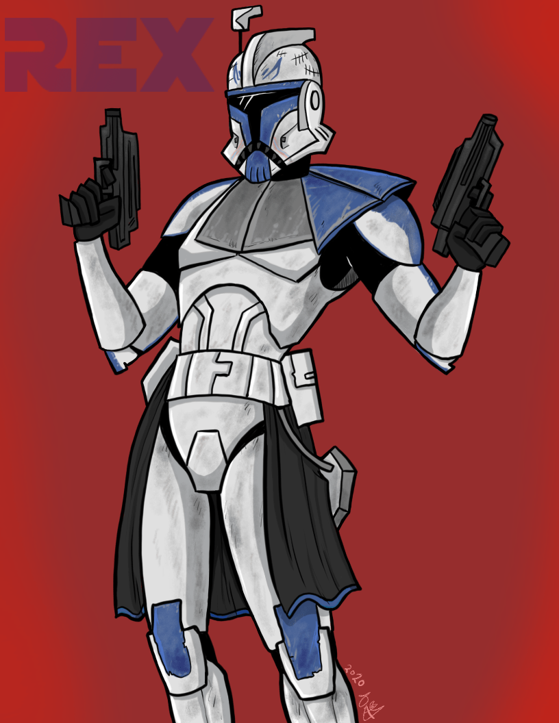 Rex in 2003 Clone Wars style, by me