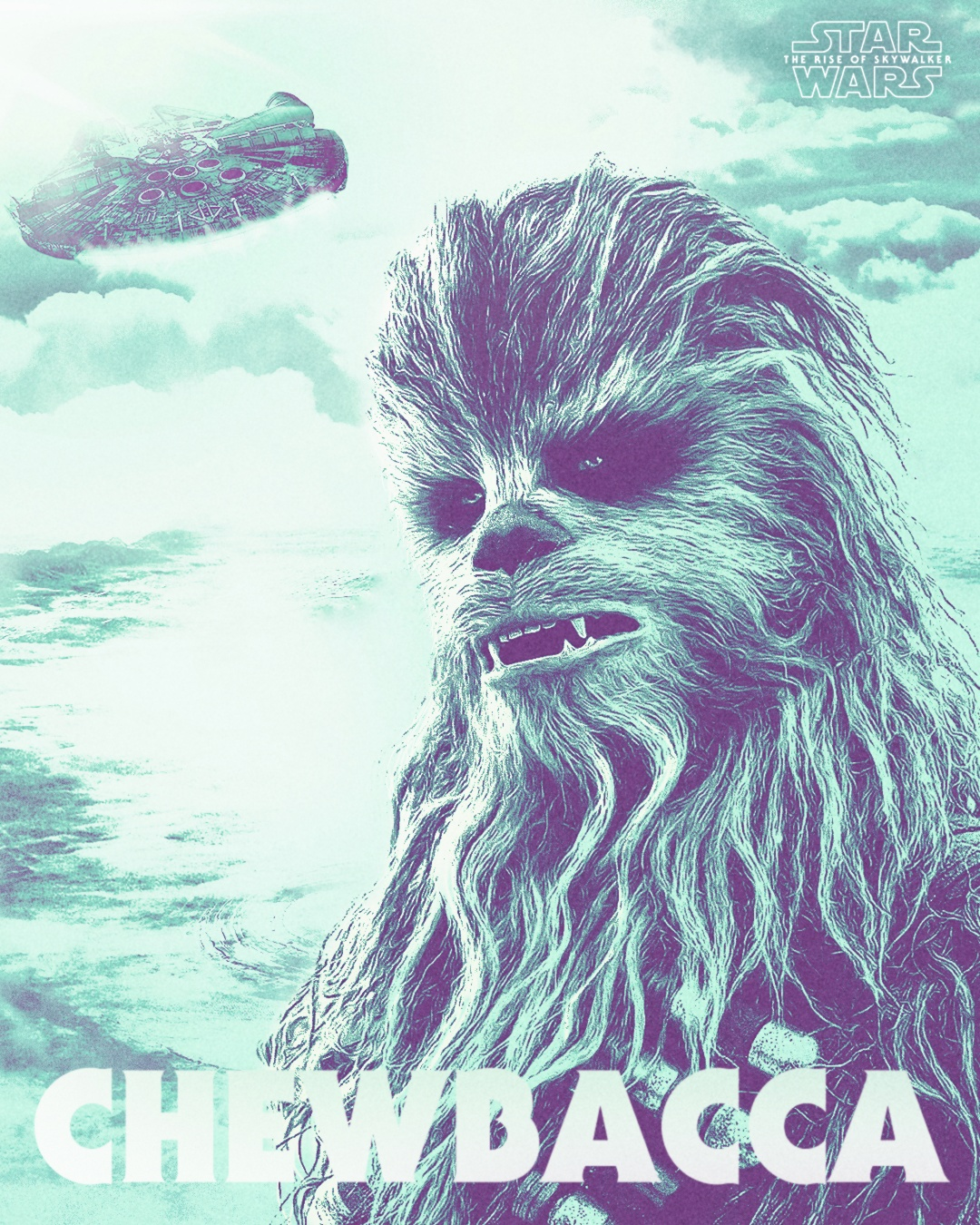 Chewbacca poster I made, thought you guys might like it
